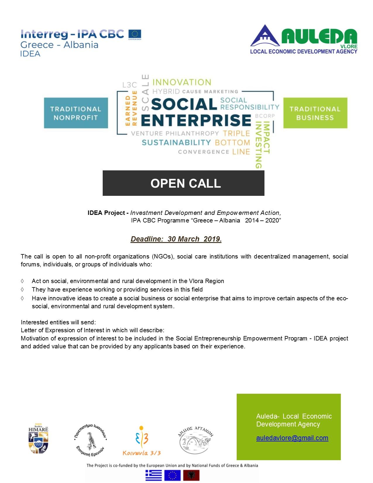 IDEA Open call